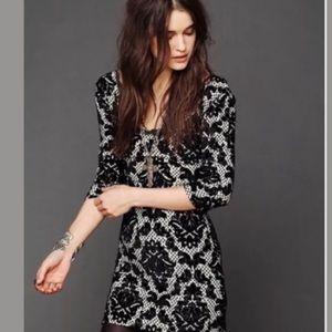 NWT Free People Intimately Baroque Velvet Dress S